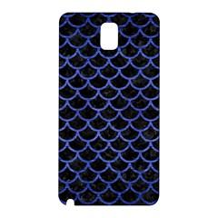 Scales1 Black Marble & Blue Brushed Metal Samsung Galaxy Note 3 N9005 Hardshell Back Case by trendistuff