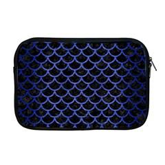 Scales1 Black Marble & Blue Brushed Metal Apple Macbook Pro 17  Zipper Case by trendistuff