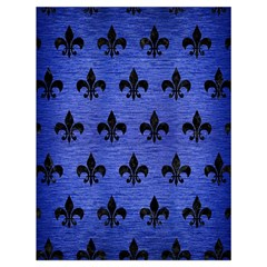 Royal1 Black Marble & Blue Brushed Metal Drawstring Bag (large) by trendistuff