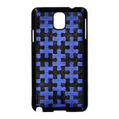 Puzzle1 Black Marble & Blue Brushed Metal Samsung Galaxy Note 3 Neo Hardshell Case (black) by trendistuff