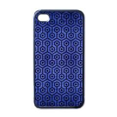 HXG1 BK-MRBL BL-BRSH (R) Apple iPhone 4 Case (Black)