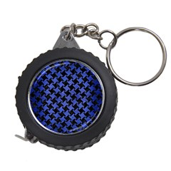 Houndstooth2 Black Marble & Blue Brushed Metal Measuring Tape by trendistuff