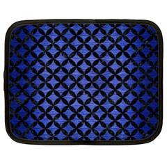 Circles3 Black Marble & Blue Brushed Metal (r) Netbook Case (xxl) by trendistuff