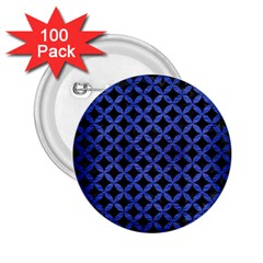 Circles3 Black Marble & Blue Brushed Metal 2 25  Button (100 Pack) by trendistuff
