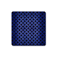Circles3 Black Marble & Blue Brushed Metal Magnet (square) by trendistuff