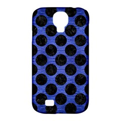 Circles2 Black Marble & Blue Brushed Metal (r) Samsung Galaxy S4 Classic Hardshell Case (pc+silicone) by trendistuff