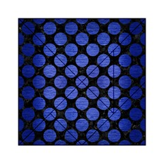 Circles2 Black Marble & Blue Brushed Metal Acrylic Tangram Puzzle (6  X 6 ) by trendistuff