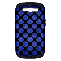 Circles2 Black Marble & Blue Brushed Metal Samsung Galaxy S Iii Hardshell Case (pc+silicone) by trendistuff