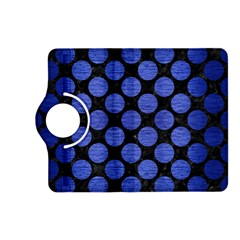 Circles2 Black Marble & Blue Brushed Metal Kindle Fire Hd (2013) Flip 360 Case by trendistuff