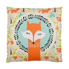 Foxy Fox Canvas Art Print Traditional Standard Cushion Case (Two Sides)