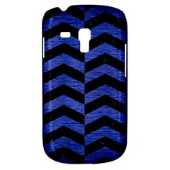 Chevron2 Black Marble & Blue Brushed Metal Samsung Galaxy S3 Mini I8190 Hardshell Case by trendistuff