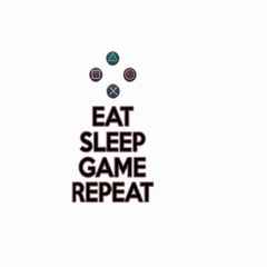 Eat Sleep Game Repeat Large Garden Flag (two Sides) by Valentinaart