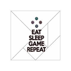 Eat Sleep Game Repeat Acrylic Tangram Puzzle (4  X 4 ) by Valentinaart