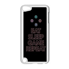 Eat Sleep Game Repeat Apple Ipod Touch 5 Case (white) by Valentinaart