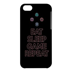 Eat Sleep Game Repeat Apple Iphone 5c Hardshell Case by Valentinaart