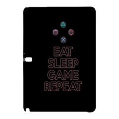 Eat Sleep Game Repeat Samsung Galaxy Tab Pro 12 2 Hardshell Case by Valentinaart