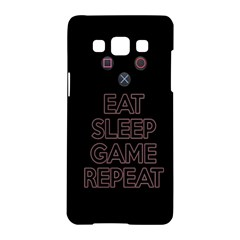 Eat Sleep Game Repeat Samsung Galaxy A5 Hardshell Case  by Valentinaart
