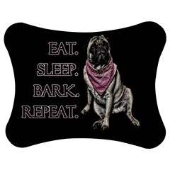 Eat, Sleep, Bark, Repeat Pug Jigsaw Puzzle Photo Stand (bow) by Valentinaart