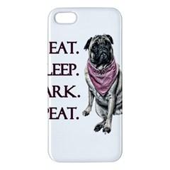 Eat, Sleep, Bark, Repeat Pug Iphone 5s/ Se Premium Hardshell Case by Valentinaart