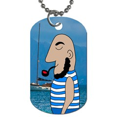 Sailor Dog Tag (two Sides) by Valentinaart