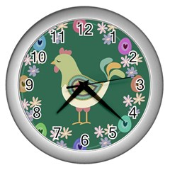 Easter Wall Clocks (silver)  by Valentinaart