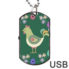 Easter Dog Tag Usb Flash (one Side) by Valentinaart