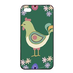 Easter Apple Iphone 4/4s Seamless Case (black) by Valentinaart