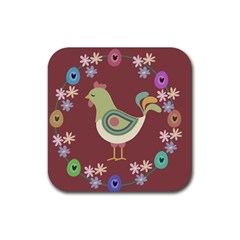 Easter Rubber Square Coaster (4 pack)  by Valentinaart