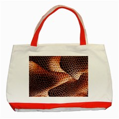 Snake Python Skin Pattern Classic Tote Bag (Red)