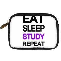 Eat Sleep Study Repeat Digital Camera Cases by Valentinaart