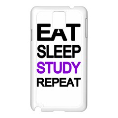 Eat Sleep Study Repeat Samsung Galaxy Note 3 N9005 Case (white) by Valentinaart