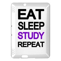 Eat Sleep Study Repeat Kindle Fire Hdx Hardshell Case by Valentinaart