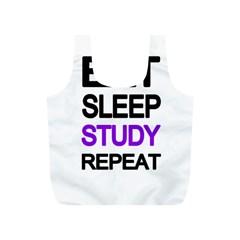 Eat Sleep Study Repeat Full Print Recycle Bags (s)  by Valentinaart