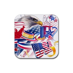 United States Of America Usa Images Independence Day Rubber Coaster (Square)