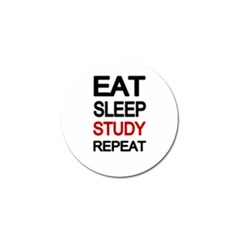 Eat Sleep Study Repeat Golf Ball Marker (10 Pack) by Valentinaart