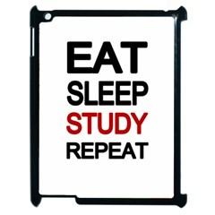 Eat Sleep Study Repeat Apple Ipad 2 Case (black) by Valentinaart