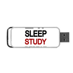 Eat Sleep Study Repeat Portable Usb Flash (two Sides) by Valentinaart