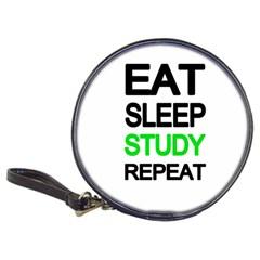 Eat Sleep Study Repeat Classic 20 Cd Wallets by Valentinaart