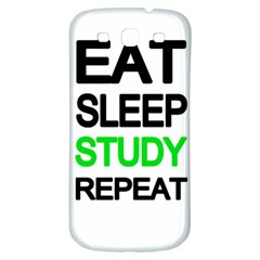 Eat Sleep Study Repeat Samsung Galaxy S3 S Iii Classic Hardshell Back Case by Valentinaart