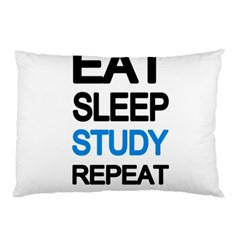 Eat Sleep Study Repeat Pillow Case (two Sides) by Valentinaart