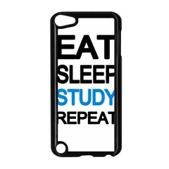 Eat Sleep Study Repeat Apple Ipod Touch 5 Case (black) by Valentinaart