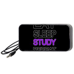 Eat Sleep Study Repeat Portable Speaker (black) by Valentinaart