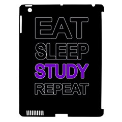 Eat Sleep Study Repeat Apple Ipad 3/4 Hardshell Case (compatible With Smart Cover) by Valentinaart
