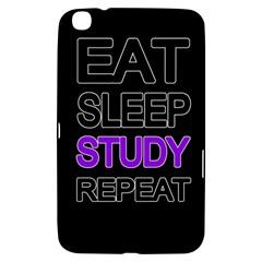 Eat Sleep Study Repeat Samsung Galaxy Tab 3 (8 ) T3100 Hardshell Case  by Valentinaart