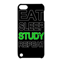 Eat Sleep Study Repeat Apple Ipod Touch 5 Hardshell Case With Stand by Valentinaart