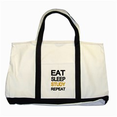 Eat Sleep Study Repeat Two Tone Tote Bag by Valentinaart