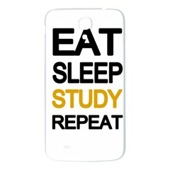 Eat Sleep Study Repeat Samsung Galaxy Mega I9200 Hardshell Back Case by Valentinaart