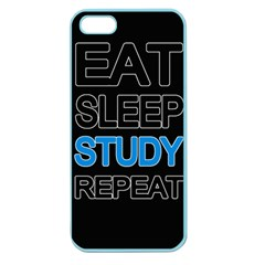Eat Sleep Study Repeat Apple Seamless Iphone 5 Case (color) by Valentinaart