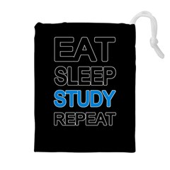 Eat Sleep Study Repeat Drawstring Pouches (extra Large) by Valentinaart
