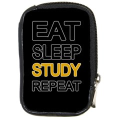 Eat Sleep Study Repeat Compact Camera Cases by Valentinaart